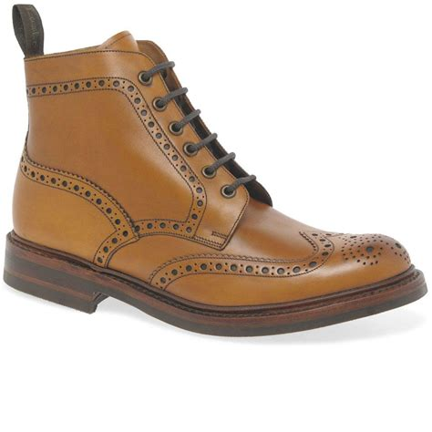 Mens Loake Brogue Lace Up Boots Bedale
