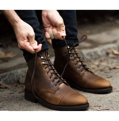 Mens Neville Lace up Ankle Boot Shoes