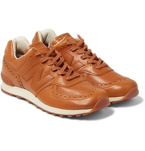 Mens New Balance Leather Sneakers