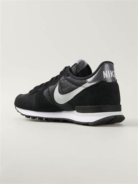 Mens Nike Black Leather Sneakers
