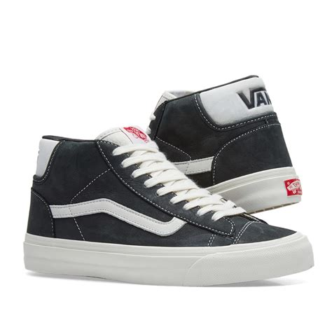 Mens OG Mid Skool LX Nubuck Black Leather