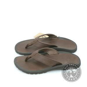 Mens Ohana ILI Thong Sandal, Dark Wood, 13 M US