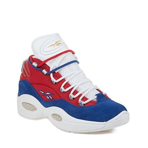 Mens Question Mid Banner Suede Basketball Shoes