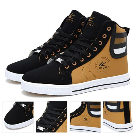 Mens Round Toe High-Top Fashion Sneakers