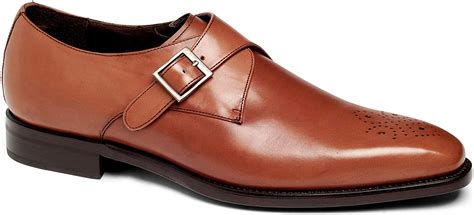 Mens SFO Single Monk Strap Medallion Premium Leather Shoe In Goodyear Welted Construction