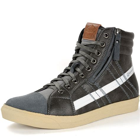 Mens SK8-HI Zip + Hight Top Lace up Fashion Sneakers