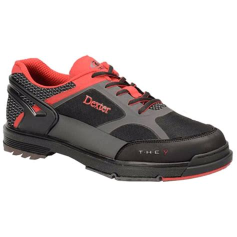 Mens SST THE 9HT Bowling Shoes WIDE- Black/Red/Grey