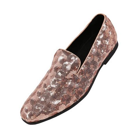 Mens Sequin Circle Patterned Smoking Slipper Dress Shoe, Nightclub Slip on Loafer, Style Swirl