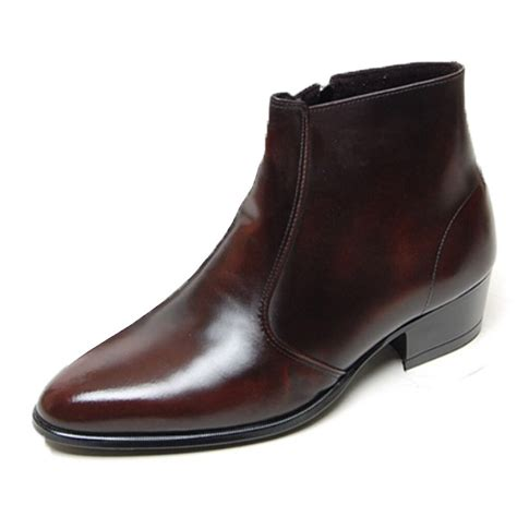 Mens Shoes Genuine Cow Leather Dress Formal Casual Classic Ankle Boots