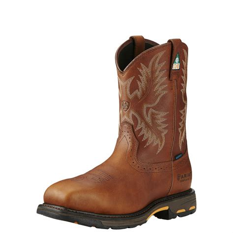 Mens Workhog Csa H2O Comp Toe Western Work