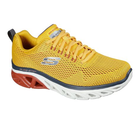 Mens Yellow Skechers Sneakers