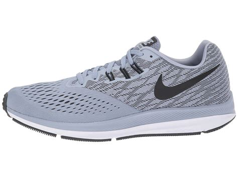 Mens Zoom Winflo 4, Glacier Grey/Black-Anthracite-White, 12.5