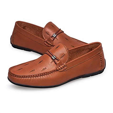 Mens's Casual Moc-Toe Stitching Leather Loafers Shoes