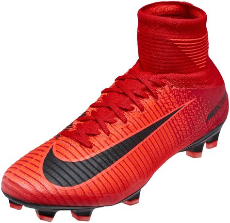 Mercurial Superfly V FG Red/Black