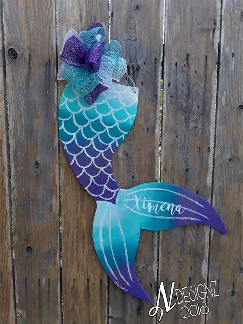 Mermaid-Diy-Christmas-Door-Hanger
