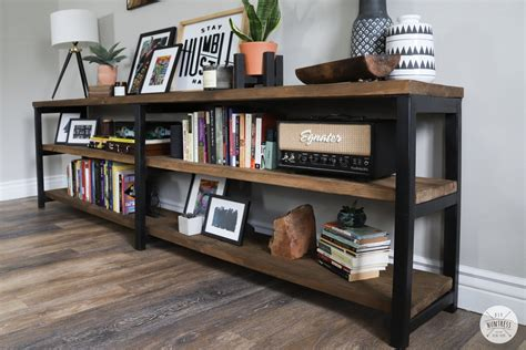 Metal And Wood Bookcase Diy Ideas