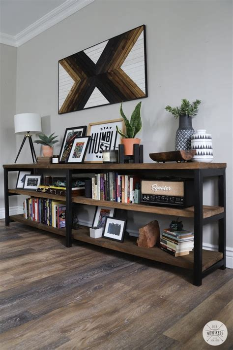 Metal And Wood Bookshelf Diy