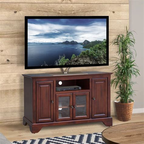 Metal Glass And Wood Finish Tv Stand