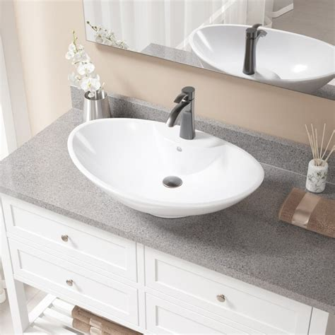 Metal Oval Vessel Bathroom Sink With Drain Assembly By Mr Direct