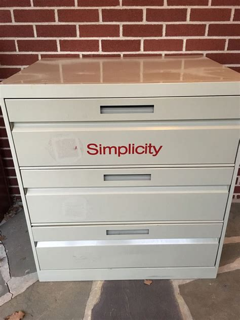 Metal Sewing Pattern Cabinet For Sale