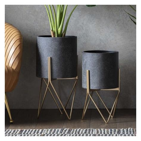 Metal Table Planter
