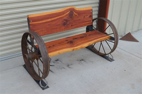 Metal Wagon Wheel Bench Plans