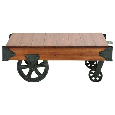 Metal-And-Wood-Cart-Table