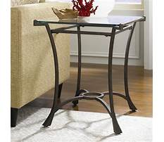 Best Metal end tables with glass tops