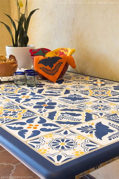 Mexican Tile Table Diy Chalk