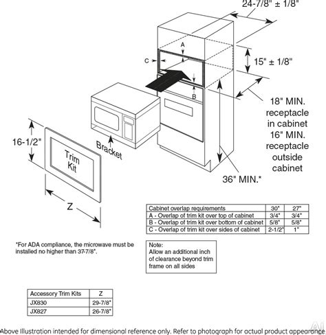 Microwave Oven Cabinet Dimensions