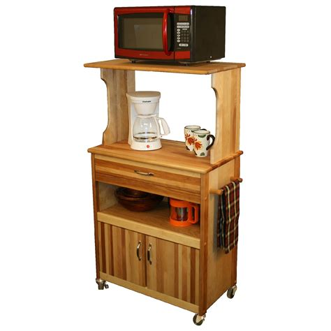 Microwave Table With Storage