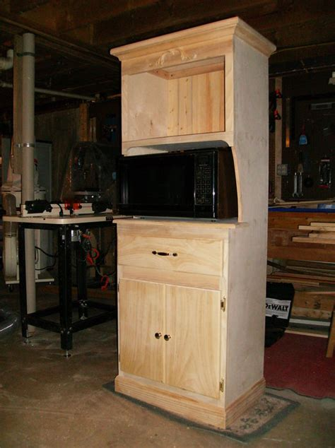 Microwave-Cabinet-With-Hutch-Plans