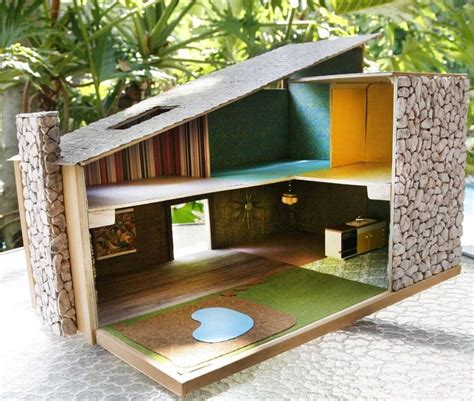 Mid Century Modern Dollhouse Plans