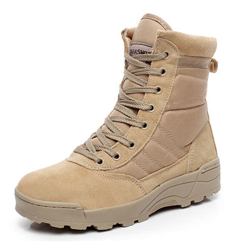 Military Combat Outdoor Sport Army Men Boots Desert Botas Hiking Shoes Travel Leather High Boots