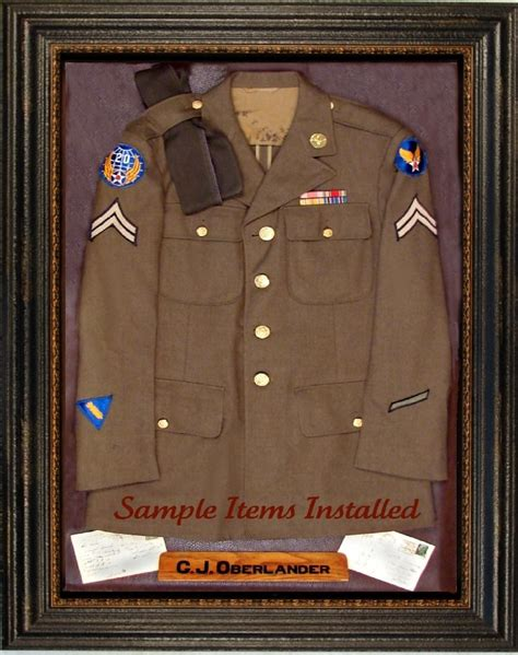 Military Uniform Display Case Plans