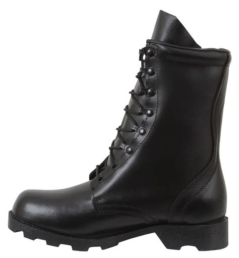 Military Uniform Supply Speedlace Leather Combat Boots - Black