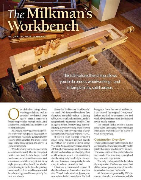 Milkmans-Workbench-Plans