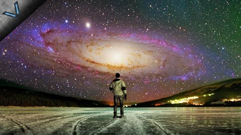 Milky Way Andromeda Galaxy