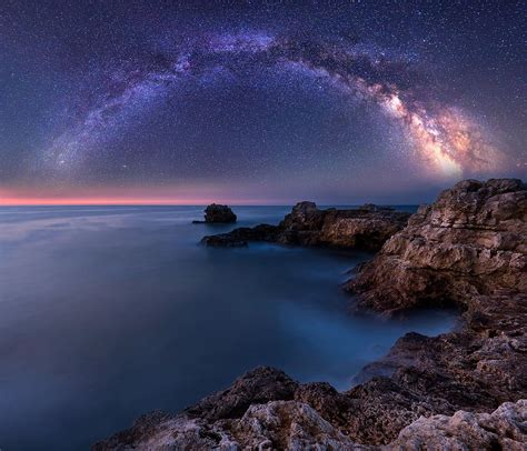 Milky Way From The Ocean