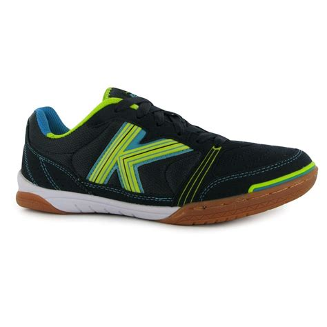 Millennium Indoor Football Futsal Trainers Mens Navy/Lime Soccer Sneakers