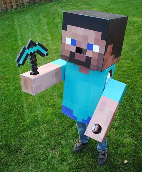 Minecraft Diy Steve Mask