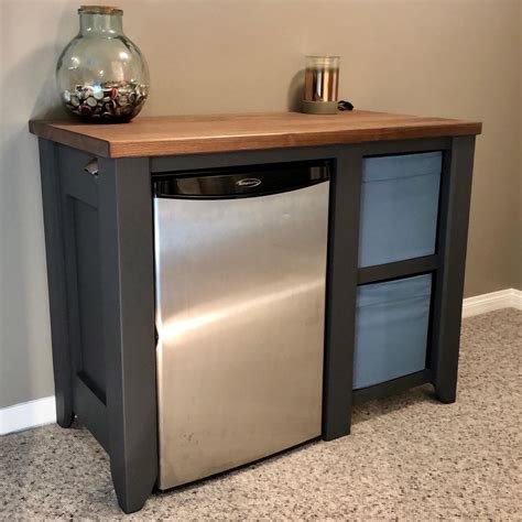 Mini Fridge Cabinet Stand Diy