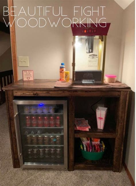 Mini Fridge End Table Diy Kit