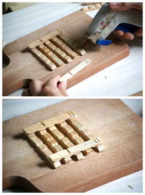 Mini Pallet Coasters DIY