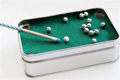 Mini Pool Table In A Tin