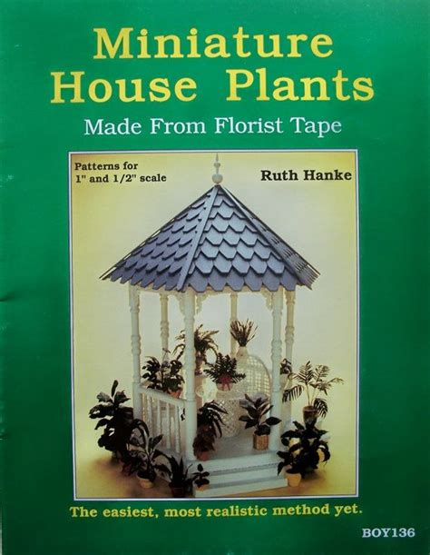 Miniature House Plants Made From Florist Tape