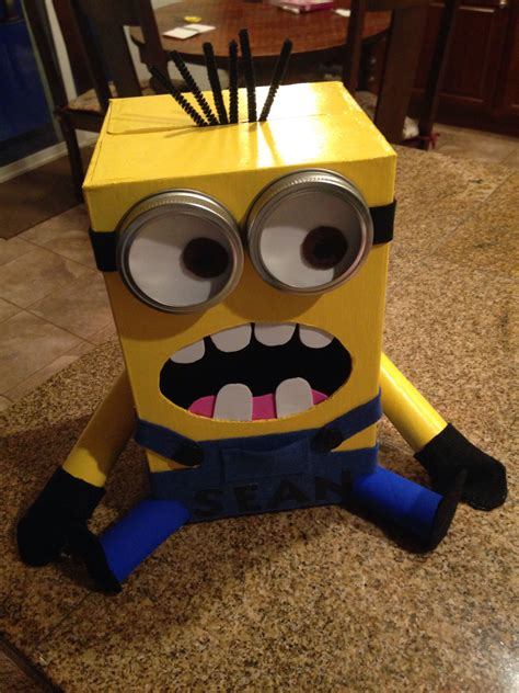 Minion Valentine Box Diy Kids