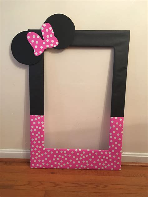 Minnie Mouse Picture Frame Diy Pinterest