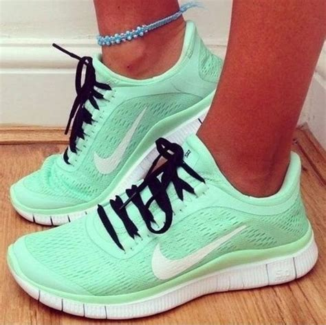 Mint Green Nike Running Sneakers