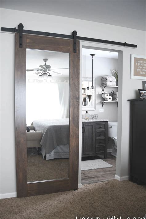 Mirrored Barn Door Diy Home